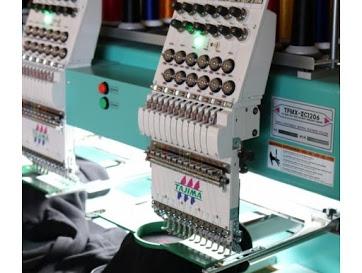 Machine à broder multi-tête ISA FRANCE pour personnalisation des vêtements professionnels