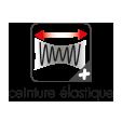 """Pictogramme de présentation du plus produits """"ceinture élastiquée"""" pour le pantalon ideal plus color"""