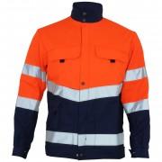 Blouson haute visibilité orange fluo et gris acier SELECT WEAR HV