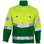 Blouson haute visibilité jaune fluo et vert alpin SELECT WEAR HV