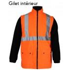 Gilet froid amovible - SONONYL HV DMD FRANCE - haute visibilité orange fluo et marine