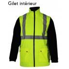 Gilet froid amovible - SONONYL HV DMD FRANCE - haute visibilité jaune fluo et marine