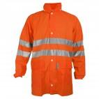 Veste intempéries haute visiblité orange fluo DMD FRANCE