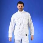 Blouson de peintre mutipoches blanc