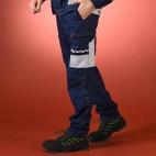 Pantalon d'artisan bicolore bleu marine et gris perle SELECT WEAR