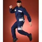 Pantalon d'artisan bleu et gris collection Select Wear