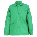 Veste de travail verte alpin à boutons en coton/polyester