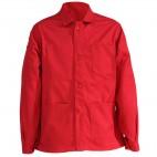 Veste de travail rouge à boutons en coton/polyester