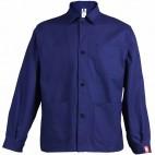 Veste de travail marine à boutons en coton/polyester