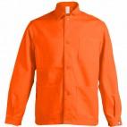 Veste de travail orange à boutons en coton/polyester