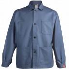 Veste de travail grise à boutons en coton/polyester