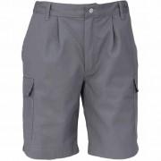 Bermuda de travail gris en coton/polyester