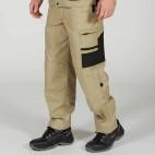 Pantalon d'artisan beige et noir collection Select Wear