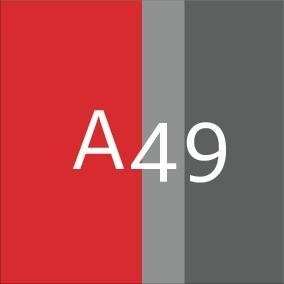 A49_Rouge HV / Anthracite foncé